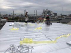 屋根上 アストロ遮熱シート張り